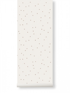Ferm Living Dot tapeta - off white