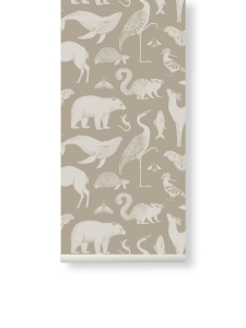 Tapeta Animal Katie Scott by Ferm Living - piaskowa + klej gratis