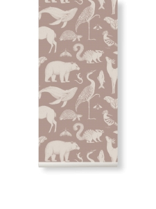 Tapeta Animal Katie Scott by Ferm Living - różowa + klej gratis